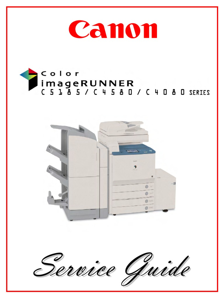 Color+imageRUNNER+C4080,+C4580,+C5185+Service+Guide | Image Scanner |  Portable Document Format