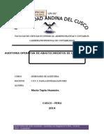 Plan de Auditoria Operativaalicorp