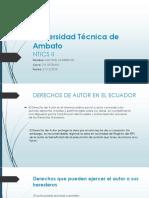 Derechos de autor Ecuador