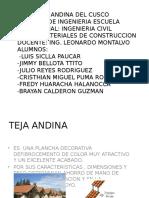 Teja Andina y Policarbonatos