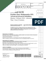 January 2010 QP - FP1 Edexcel