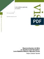 FelipeCharbel_Representações Do Belo No Quattrocento Florentino