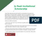 the billy peek invitational scholarship