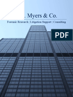 T.A. Myers & Co. Forensic Services Brochure