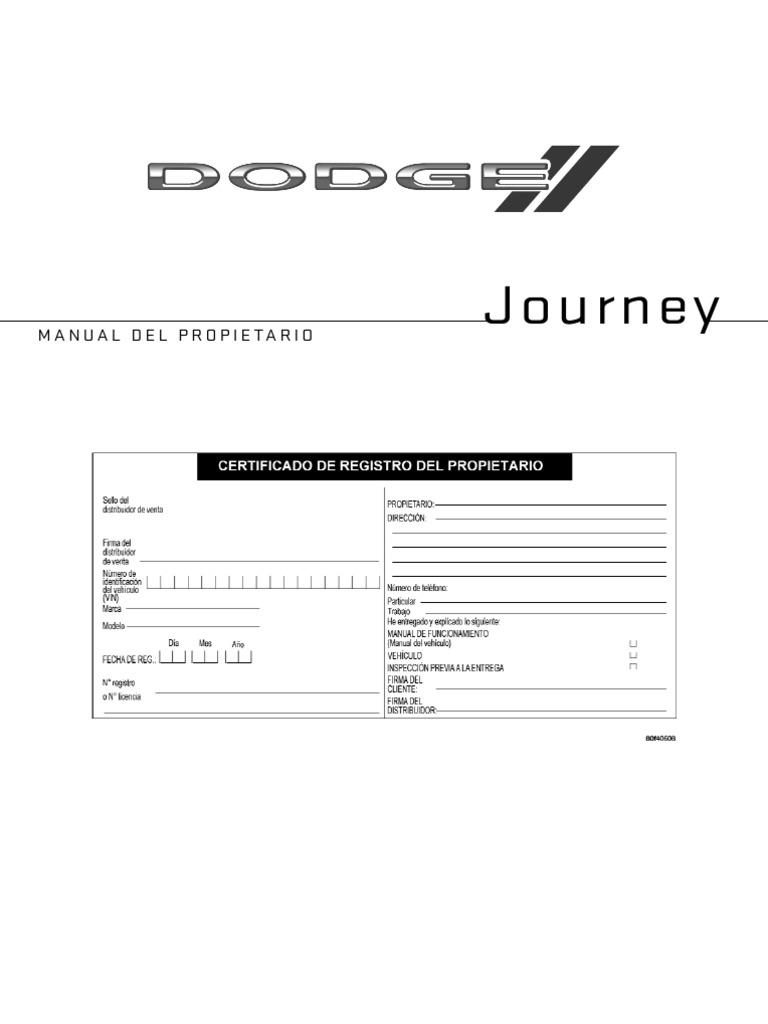 Manual Propietario Journey