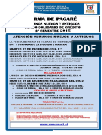 Firma Pagaré 2 Sem 2015