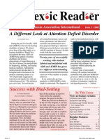 The Dyslexic Reader 2001 - Issue 25