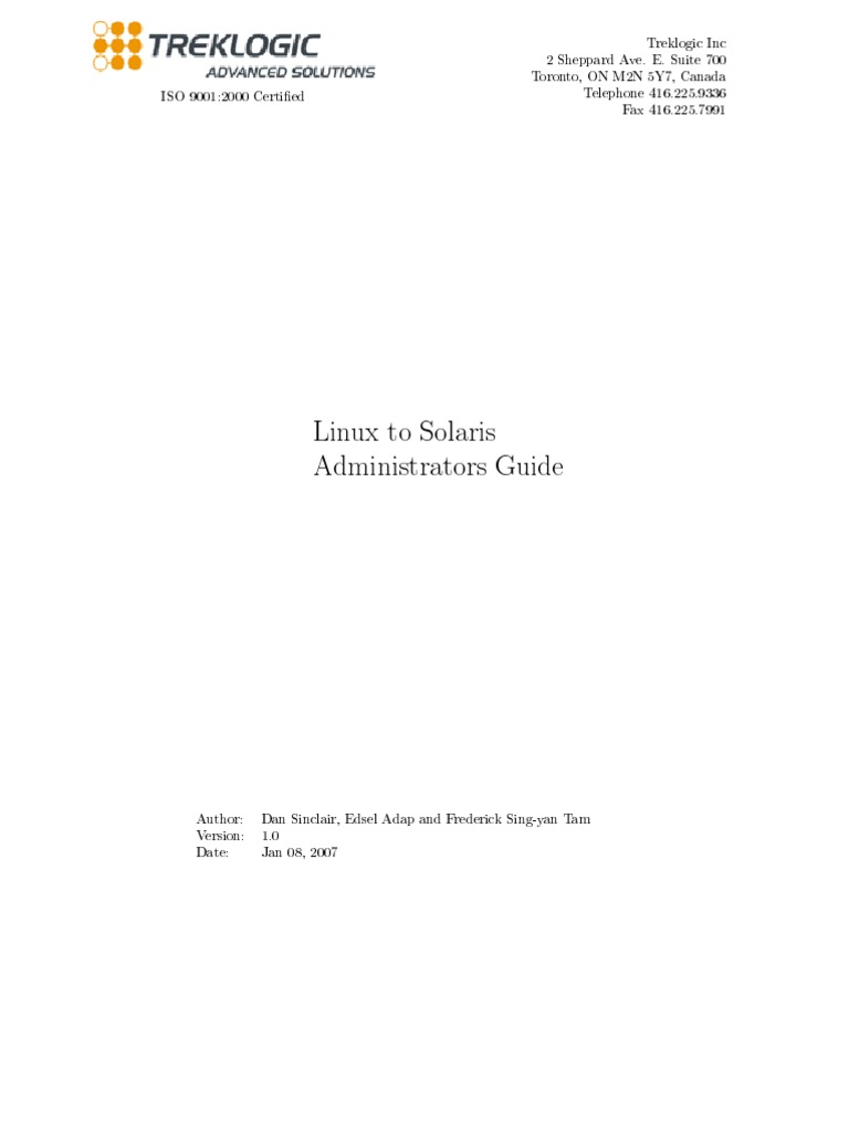 linux-to-solaris sysadmin guide | Software | Unix
