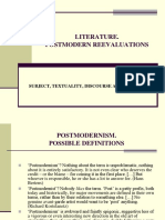 Subject, Textuality, Discourse, Society