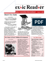 The Dyslexic Reader 2003 - Issue 32