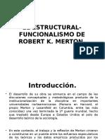 El Estructural-funcionalismo Merton