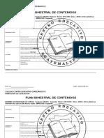 Formato Plan Mensual de Clase Col. Guatemalteco