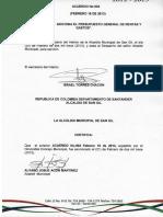 Acuerdo 002 de 2013