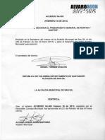 Acuerdo 003 de 2013