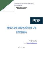 Regla de Medición de Las Finanzas