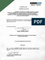 Acuerdo 005 de 2013