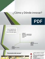 Cómo y Dónde Innovar 2015