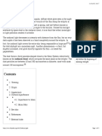 Zodiacal Light - Wikipedia, The Free Encyclopedia