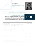 jennifer malloy resume - education 2015