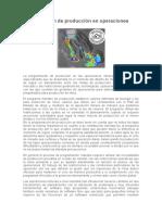 Programación de Producción en Operaciones Mineras