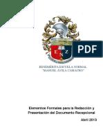 Benmac-lineamientos Para La Redaccion Del Dcto Recepcional-benmac