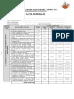 Ficha de Desempeño Laboral-Inicial- 2015