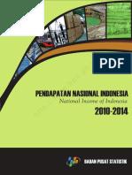 Pendapatan Nasional Indonesia Tahun 2010 2014