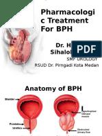 Pharmacologic Treatment for BPH