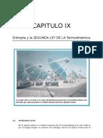 Capitulo Ix Entropia y Segunda Ley de La Termodinamica