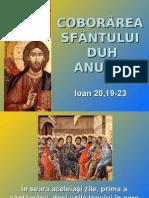 Coborârea Duhului Sfânt - textul evanghelic (A)