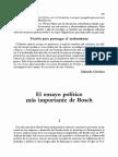 El Ensayo Politico Mas Importante de Bosch