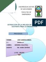 Extraccion de Melaza de Caña Como Sustrato Para La Producción(Acho Sarzuri Marisol)