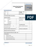 PBS Form 002 - Under Keel Clearance Calculations