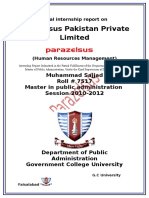 Final Internship Report on Para