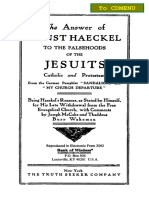 The Answer of Ernst Haeckel to the Falsehoods of the Jesuits