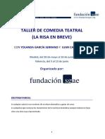 Taller de Escritura de Comedia Teatral Madrid y Valencia