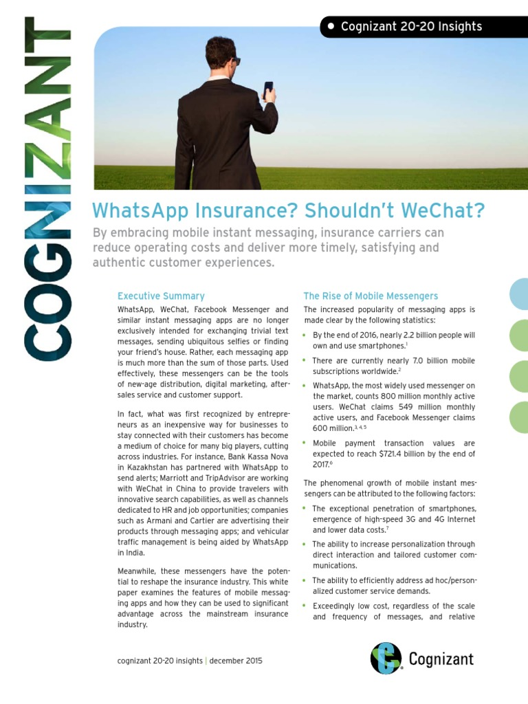 WhatsApp Insurance? Shouldn't WeChat? | We Chat | Instant