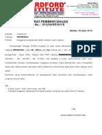 Surat Pemberitahuan Telepon Dan Listrik 2015