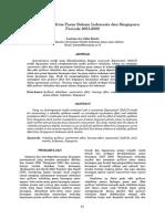 Spillover Volatilitas Pasar Saham Indonesia Dan Singapura Periode 2001-2001