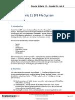 Zfs File System Lab