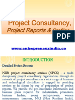 Project Consultancy, Project Reports & Profiles