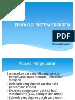 Fisiologi Ekskresi Update