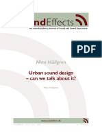 Urban Sound Design