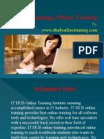 Best Datastage online training | Datastage tutorial classes in India