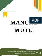 Manual Mutu Umk 2015