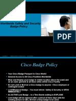 SAS Badge Policy