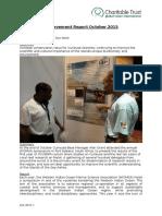 Achievement Report October 2015