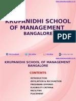 Krupanidhi School of Management Bangalore|MBA|PGDM