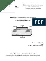 DS de Physique Des Composants a Semiconducteurs