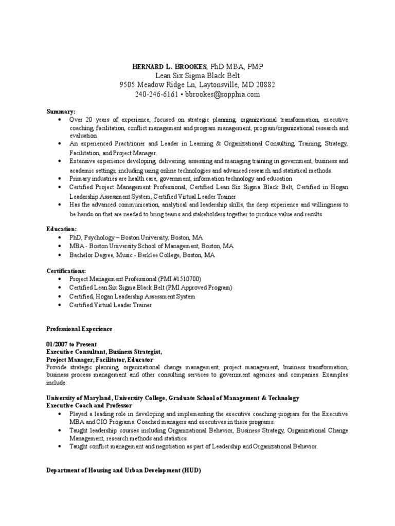 Bernard Brookes Cons 12415 Update Strategic Management